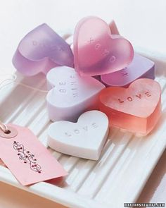 Valentine's Day Crafts // Heart-Shaped Soap How-To