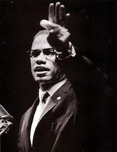 Malcolm X Addressing Black Muslim Rally in Chicago 1963