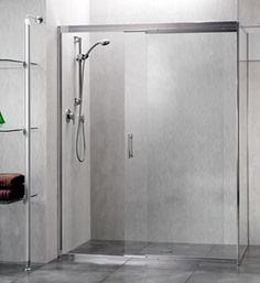 Trident Sliding Shower Screen on a large tiled shower