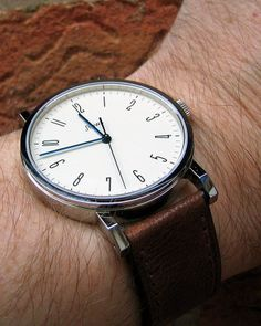 Hello, I have just placed an order for the Stowa Antea KS with the brown strap and deployment clasp. Fancy Watches, Expensive Watches, Men's Watches, Cool Watches, Watches For Men, Bauhaus Watch, Stowa, Field Watches, Mens Watches Leather
