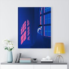 Woman With A Window, Gallery Wrapped Canvas Print Canvas Wall Art, Wall Art Prints, Canvas Prints, Flat Illustration, Illustrations, Unique Wall Art, Wall Art Decor, Wrapped Canvas, Woman