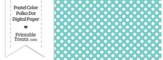 Pastel Blue Green Polka Dot Digital Scrapbook Paper