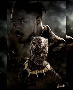 Erik Killmonger (Michael B. Marvel Villains, Marvel Films, Marvel Art, Marvel Heroes, Marvel Avengers, Black Panther Art, Black Panther Marvel, Michael B Jordan, Jack Kirby