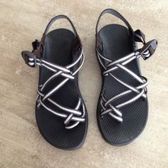 Women's Chacos (Size 10) Great Condition! Little wear! Great condition! Double strap! Brown, Yellow, Grey, Cream. Size 10. Willing to accept reasonable offers! Chacos Shoes Sandals