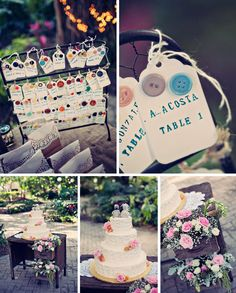 tags with buttons for escort cards