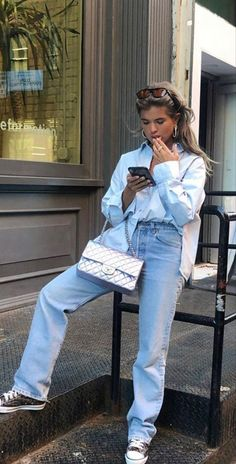 Spring Summer Fashion, Spring Outfits, Autumn Fashion, Pinterest Trends, Mode Outfits, Fashion Outfits, Camisa Oversized, Mode Ootd, Look Street Style