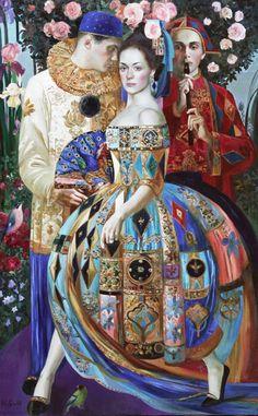 "Painting by Olga Suvorova (b.1966, Leningrad), ""A dancer"", oil on canvas."