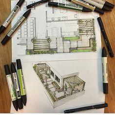 Landscape sketch design architects New Ideas Landscape Sketch, Landscape Architecture Design, Architecture Graphics, Architecture Student, Architecture Drawings, Architecture Plan, Landscape Architects, Classical Architecture, Interior Design Sketches