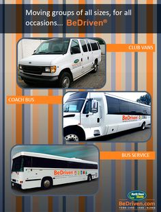 """""""Moving groups of all sizes,for all occasions... BeDriven"""" - www.bedriven.com"""