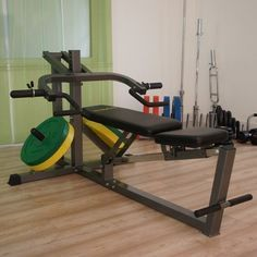 With The Locking Pin Positioned At Its Lowest Setting And The Bench At Its Lowest Angle You Can Also Use The Bodymax In 2020 At Home Gym Bench Press Home Gym Machine