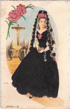 Spanish Lady postcard...