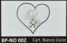 Bigliettino bomboniere matrimonio con cuore e famiglia confezione da 20 pezzi