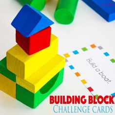 These Building Block STEM challenge cards are a great way to work engineering, math, planning and more into your school day! Or use them just for fun! 2d Shapes Kindergarten, Kindergarten Activities, Stem Activities, Preschool Learning, Teaching, Stem Projects, Science Projects, Science Experiments, School Projects