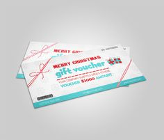 Christmas Gift Voucher template by Template Shop on Creative Market