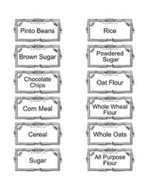 PRINTABLE Pantry Labels I needed these for my pantry!!