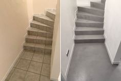 Before / after – a former tile staircase tells of her life … - Yersq Sites Tiled Staircase, Stairs, Foyer Design, Diy Design, Casa Clean, Cosy Bedroom, Small Entryways, Stage Decorations, Light Texture