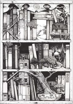 love this - such a great illustration of how books can take you so many places