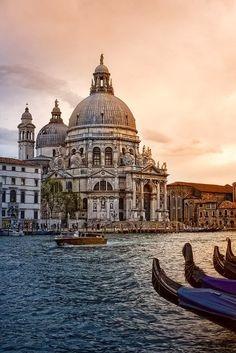 Basilica di Santa Maria della Salute Venice Italy.