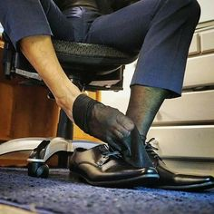 Adidas Campus Shoes, Men In Tight Pants, Sheer Socks, Black Socks, Men In Uniform, Male Feet, Dress Socks, Nylon Stockings, Mens Suits
