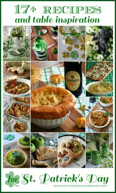 It's said that everyone is a little bit Irish on St. Patrick's Day! Here's a round-up to help you Eat, Drink and Be Irish, with recipes and St. Patrick's Day inspiration from the kitchen … Irish Potato Soup, Irish Potatoes, Irish Stew, St Patricks Day Food, Saint Patricks, Frozen Puff Pastry, Complete Recipe, Irish Recipes, Holiday Recipes