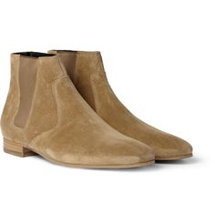 Saint Laurent Suede Chelsea Boots | MR PORTER