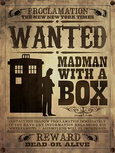 wanted: madman with a box