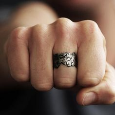 A rough-around-the-edges ring for your resident tough guy (or gal). #etsyjewelry