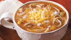 ~Chicken Enchilada Soup~ Homemade soup in minutes!  You CAN do it!
