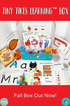 The Tiny Tikes Learning Box is the complete learning kit that helps 3-6 year olds & parents teach necessary school readiness skills while incorporating play-based learning opportunities.The Tiny Tikes Learning Box provides complete activities and ALL manipulatives needed for every activity. For storage, all materials can be stored right inside of the box which can be stacked and easily put in a drawer or cabinet. #bestlearningboxever #preschoollearning #kindergarteners #parentsanity