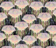 jellyfish on parade fabric by glimmericks on Spoonflower - custom fabric