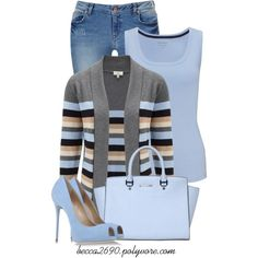 """""""Lovely in Light Blue"""" by becca2690 on Polyvore"""