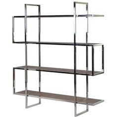 Isabo Steel Snake Shelving Unit ($1,525) ❤ liked on Polyvore featuring home, furniture, storage & shelves, bookcases, steel shelving unit, shelving unit, steel furniture, book shelves and steel bookcase