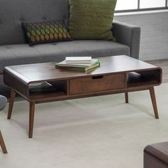 Belham Living Carter Mid Century Modern Coffee Table – Coffee Tables at Hayneedle