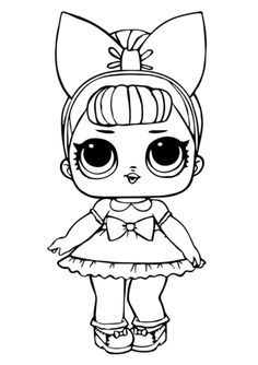 lol doll fancy glitter coloring pages printable and coloring book to print for free. Find more coloring pages online for kids and adults of lol doll fancy glitter coloring pages to print. Unicorn Coloring Pages, Cute Coloring Pages, Coloring Pages For Girls, Coloring Pages To Print, Free Printable Coloring Pages, Coloring For Kids, Free Coloring, Coloring Sheets, Coloring Books