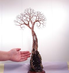 Wire Tree sculpture Soul Mate Tree Of Life by CrowsFeathers