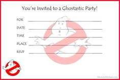 I created a Ghostbusters party invitation for my son's birthday party. But you can also use it for any party event.