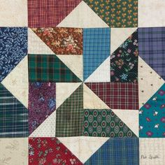 Unique block for scraps. Sampler Quilts, Lap Quilts, Scrappy Quilts, Mini Quilts, Quilt Block Patterns, Pattern Blocks, Quilt Blocks, Plaid Quilt, Quilting Projects