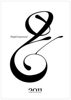 Moshik Nadav Typography | Playful Ampersand - Experimental Typography Project