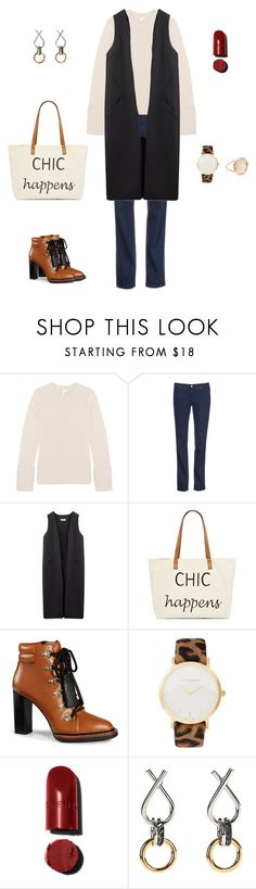 """""""Long vest styling#2"""" by yuri-writer on Polyvore featuring Iris & Ink, HUGO, Non, Straw Studios, Tod's, Larsson & Jennings, Alexander Wang and Ginette NY"""