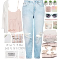 I'm Breaking by bellacharlie on Polyvore featuring Talula, Topshop, Y.R.U., Wildfox, Ted Baker, Stila, Herbivore, L'Occitane, Anastasia and Davines