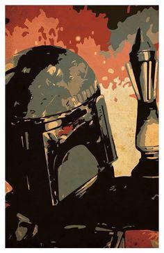 Boba Fett, Star Wars Art, poster illustration.