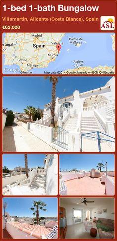Bungalow for Sale in Villamartin, Alicante (Costa Blanca), Spain with 1 bedroom, 1 bathroom - A Spanish Life Murcia, Alicante, Valencia, Bungalows For Sale, Large Bedroom, Terrace, Spanish, Bathroom, Beach