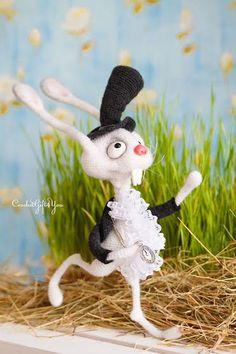 White Rabbit / Amigurumi / Crochet White Rabbit / by CRGift