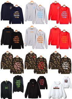 $1.99 - Anti Social Social Club Hooded Assc Hoodie Overpull Sweatshirt Long Sleeves Lot #ebay #Fashion