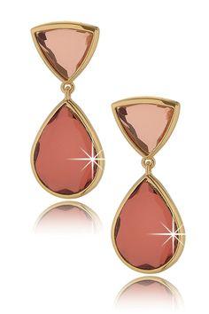 ISHARYA LIBRA Mirror Gem Pink Earrings