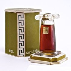 Cassandra by Weil, bottle by Baccarat, introduced in 1936.