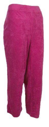 Sutton Studio Womens Terry Cloth Crop Pant Misses Large Raspberry [Apparel] Sutton Studio. $29.99