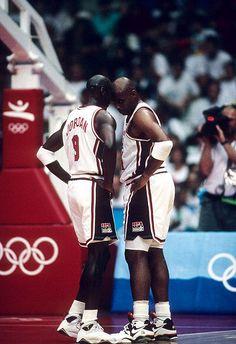 "Michael Jordan Charles Barkley USA Basketball Team ""Dream Team"""