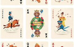 illustrated deck of cards by Jonathan Burton. It's brand new but still...