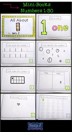 All about the number one FREEBIE designed for kindergarten and pre-K. Includes 8 page mini book, puzzle, clothespin game and cards with different ways to make the number one. Common Core aligned for kindergarten.